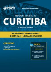 Apostila Prefeitura de Curitiba - PR 2019 - Profissional do Magistério - Docência II - Língua Portuguesa