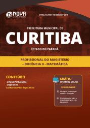 Apostila Prefeitura de Curitiba - PR 2019 - Profissional do Magistério - Docência II - Matemática