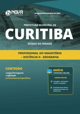Apostila Prefeitura de Curitiba - PR 2019 - Profissional do Magistério - Docência II - Geografia