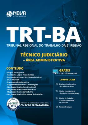 Apostila TRT-BA 2019 - Técnico Judiciário - Área Administrativa
