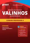 Apostila Download Prefeitura de Valinhos - SP 2019 - Comum Professor II