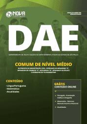 Apostila DAE de Santa Bárbara D'Oeste - SP 2019 - Comum de Nível Médio