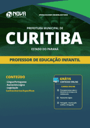 Apostila Prefeitura de Curitiba - PR 2019 - Professor de Educação Infantil