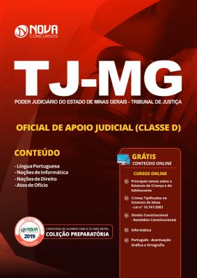 Apostila Download TJ-MG 2019 - Oficial de Apoio Judicial (Classe D)