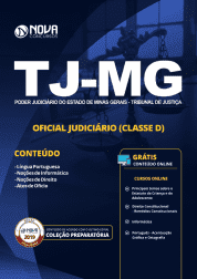 Apostila TJ-MG 2019 - Oficial Judiciário (Classe D)