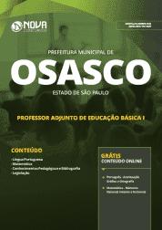 Apostila Download Prefeitura de Osasco - SP 2019 - Professor Adjunto de Educação Básica I