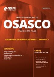 Apostila Prefeitura de Osasco - SP 2019 - Professor de Desenvolvimento Infantil I