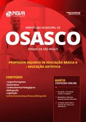 Apostila Download Prefeitura de Osasco - SP 2019 - Professor Adjunto de Educação Básica II - Educação Artística