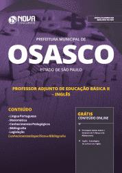 Apostila Prefeitura de Osasco - SP 2019 - Professor Adjunto de Educação Básica II - Inglês