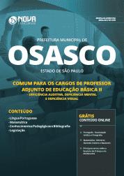 Apostila Prefeitura de Osasco - SP 2019 - Comum para os Cargos de Professor Adjunto de Educação Básica II