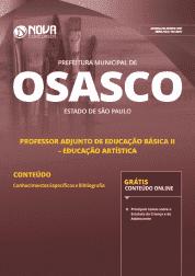 Apostila Prefeitura de Osasco - SP 2019 - Professor Adjunto de Educação Básica II - Educação Artística