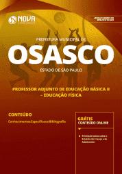 Apostila Prefeitura de Osasco - SP 2019 - Professor Adjunto de Educação Básica II - Educação Física