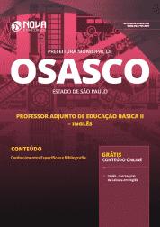 Apostila Download Prefeitura de Osasco - SP 2019 - Professor Adjunto de Educação Básica II - Inglês (Específico)