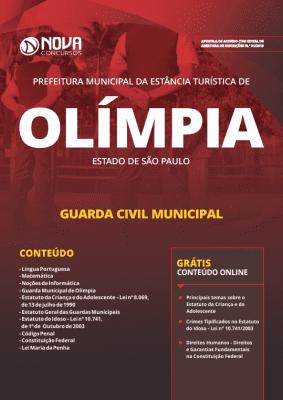 Apostila Prefeitura de Olímpia - SP 2019 - Guarda Civil Municipal