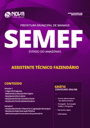 Apostila Prefeitura de Manaus - AM (SEMEF) 2019 - Assistente Técnico Fazendário