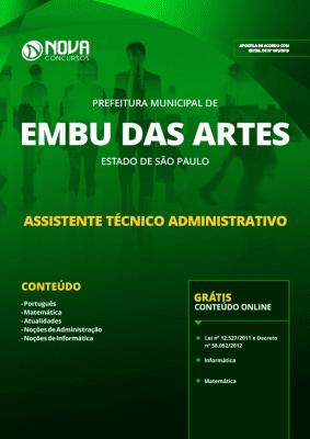 Apostila Prefeitura de Embu das Artes - SP 2019 - Assistente Técnico Administrativo