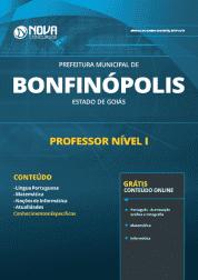 Apostila Prefeitura de Bonfinópolis - GO 2019 - Professor Nível I