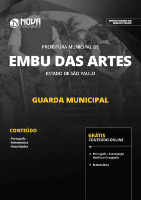 Apostila Download Prefeitura de Embu das Artes - SP 2019 - Guarda Municipal