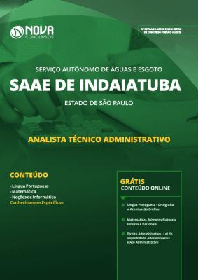 Apostila SAAE de Indaiatuba - SP 2019 - Analista Técnico Administrativo