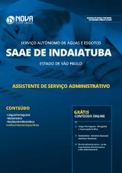 Apostila SAAE de Indaiatuba - SP 2019 - Assistente de Serviço Administrativo