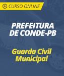 Curso Online Prefeitura de Conde - PB 2019 - Guarda Civil Municipal