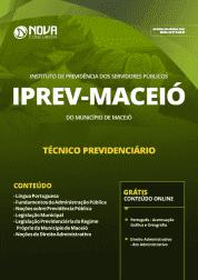 Download Apostila IPREV Maceió - AL 2019 - Técnico Previdenciário
