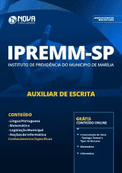 Apostila IPREMM de Marília - SP 2019 - Auxiliar de Escrita