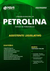 Apostila Câmara de Petrolina - PE 2019 - Assistente Legislativo