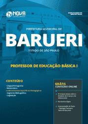 Apostila Prefeitura de Barueri - SP 2019 - Professor de Educação Básica I