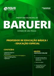 Apostila Prefeitura de Barueri - SP 2019 - Professor de Educação Básica I - Educação Especial