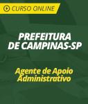 Curso Prefeitura de Campinas - SP 2019 - Agente de Apoio Administrativo