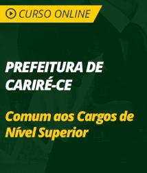Conhecimentos Gerais Prefeitura de Cariré - CE - Comum aos Cargos de Nível Superior