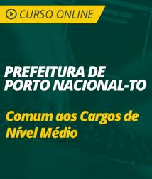 Curso Português e Informática Prefeitura de Porto Nacional - TO - Comum aos Cargos de Nível Médio