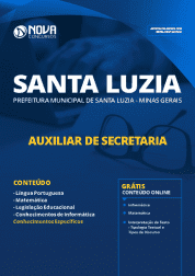 Download Apostila Prefeitura de Santa Luzia - MG 2019 - Auxiliar de Secretaria