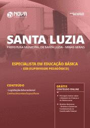 Download Apostila Prefeitura de Santa Luzia - MG 2019 - Especialista em Educação Básica - EEB (Supervisor Pedagógico)