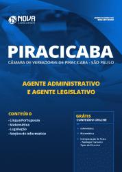 Apostila Câmara de Piracicaba - SP 2019 - Agente Administrativo e Agente Legislativo