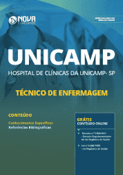 Download Apostila Unicamp - SP 2019 - Técnico de Enfermagem