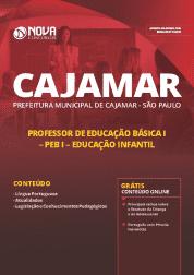 Apostila Prefeitura de Cajamar - SP 2019 - Professor de Educação Básica I (PEB I) Educação Infantil