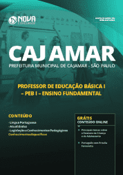 Apostila Prefeitura de Cajamar - SP 2019 - Professor de Educação Básica I (PEB I) Ensino Fundamental