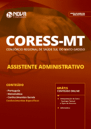 Download Apostila CORESS-MT 2019 - Assistente Administrativo