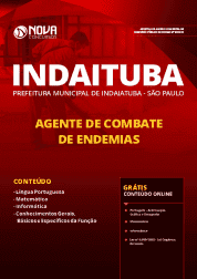 Download Apostila Prefeitura de Indaiatuba - SP 2019 - Agente de Combate de Endemias