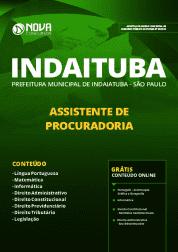 Apostila Prefeitura de Indaiatuba - SP 2019 - Assistente de Procuradoria