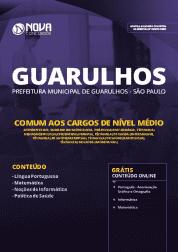 Download Apostila Prefeitura de Guarulhos - SP 2019 - Comum aos Cargos de Nível Médio