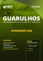 Download Apostila Prefeitura de Guarulhos - SP 2019 - Atendente SUS