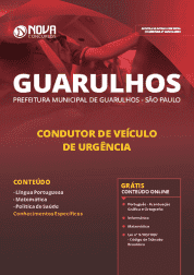 Download Apostila Prefeitura de Guarulhos - SP 2019 - Condutor de Veículo de Urgência