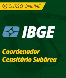 Raciocínio Lógico-Matemático para IBGE - Coordenador Censitário Subárea