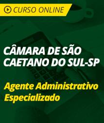 Português para Câmara de São Caetano do Sul - SP - Agente Administrativo Especializado