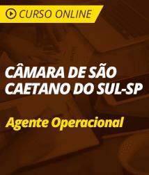 Matemática para Câmara de São Caetano do Sul - Agente Operacional