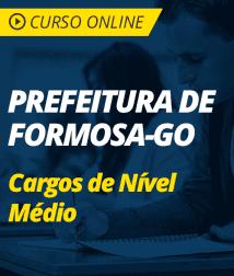 Informática para os Cargos de Nível Médio da Prefeitura de Formosa - GO