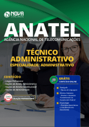 Apostila ANATEL 2020 - Técnico Administrativo - Especialidade: Administrativo